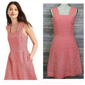NWT 4 TALL GAP Pink Linen Fit and Flare Rose Dress